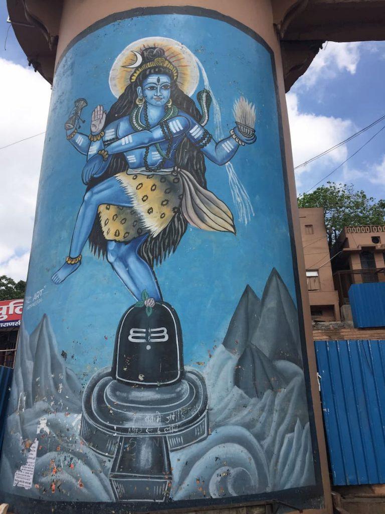 Mur-Shiva Benares Varanasi Inde