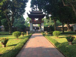 Temple de la litterature Hanoi Vietnam Nord