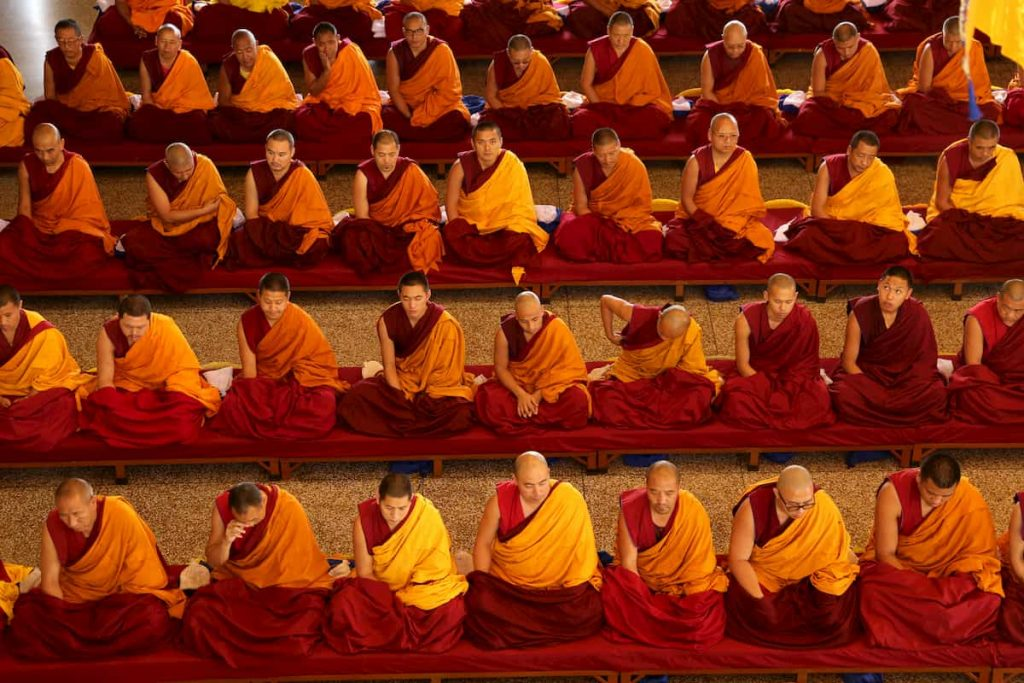 Moines tibétains dharamsala Inde