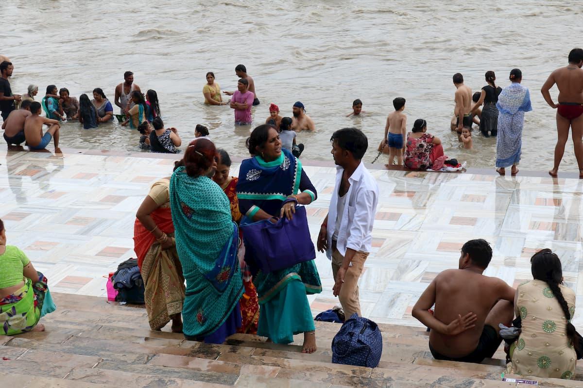 Haridwar Gange Baignade Inde