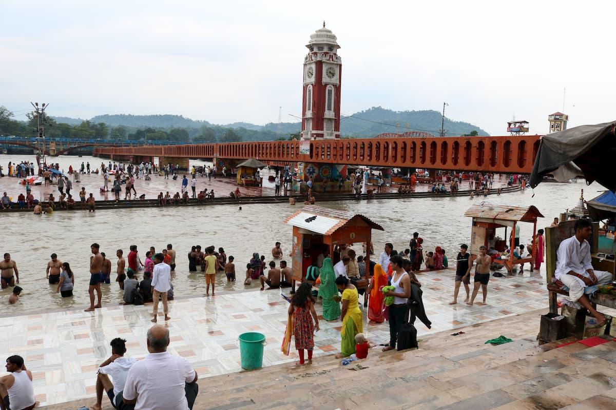Haridwar Gange clock tower Inde
