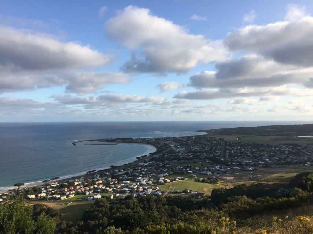 Point de vue sur Apollo Bay