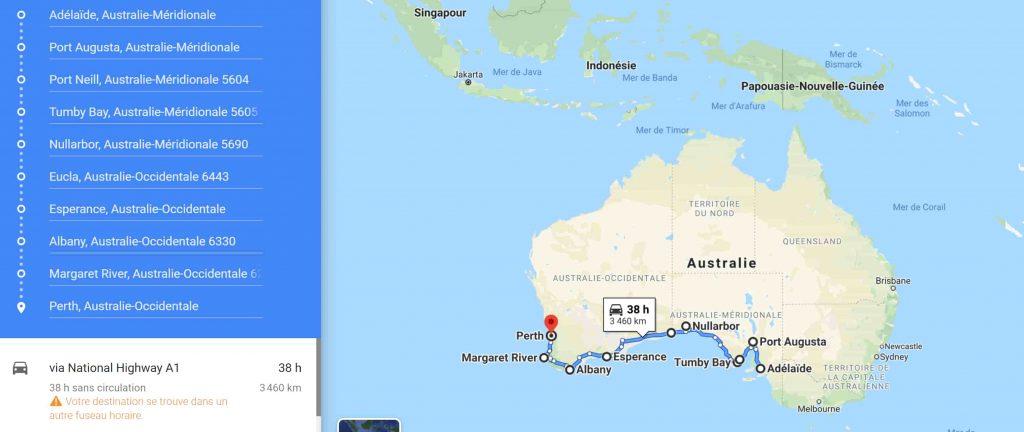 Maps Cote sud road trip